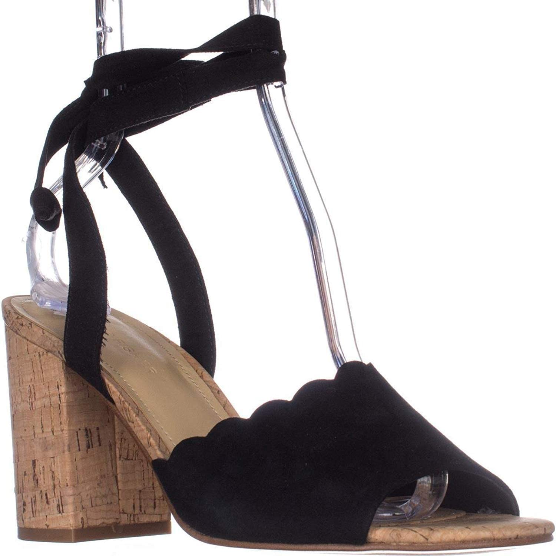 Marc Fisher Piya2 Tie Up Sandals - Black Suede