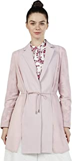 Iconic Women's 2091023 SS23SFTLAPJK Woven Down Jacket, Pink