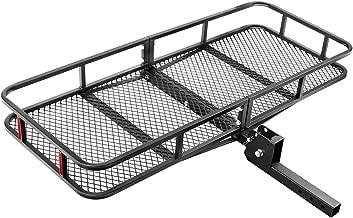 Leader Accessories Hitch Mount Cargo Basket Folding Cargo Carrier Luggage Basket 60