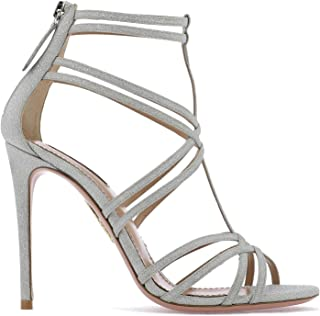 AQUAZZURA Luxury Fashion Womens PRCHIGS0DMDCCC Silver Sandals | Fall Winter 19