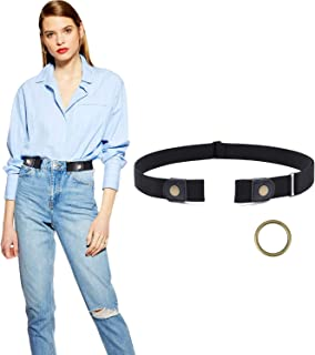 No Buckle Belt, JASGOOD Buckle Free Stretch Belt for Women and Men Jeans Pants