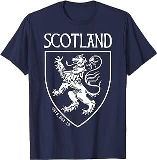 SCOTTISH HISTORY TSHIRT, SCOTTISH FLAG, RAMPANT LION SHIRT