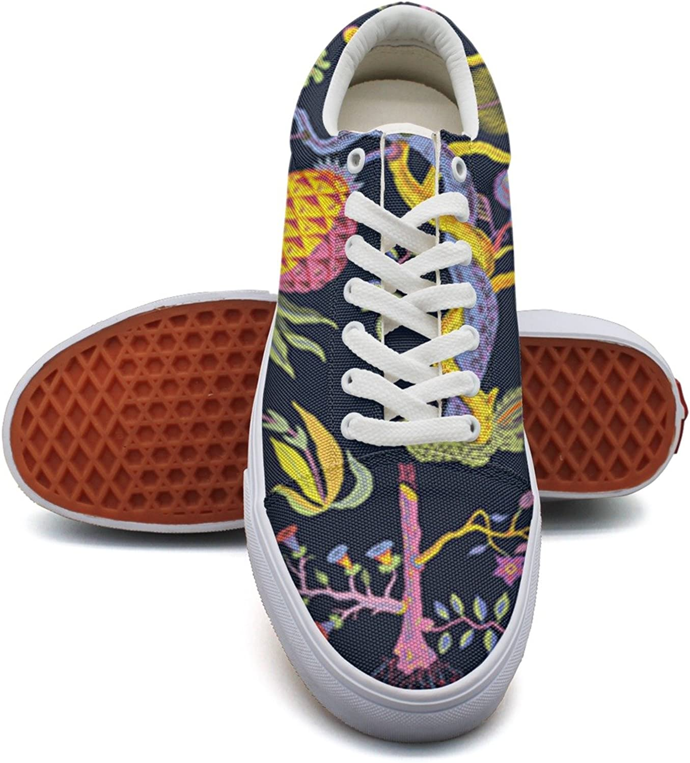 colorful And Beautiful Pineapple Tree Women's Casual shoes Canvas Slip On Cute Trainers