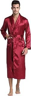 Tony & Candice Men's Long Classic Satin Charmeuse Robe