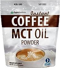 Keto Coffee Creamer For Dark & Rich Flavor - Sugar Free & Unsweetened - MCT Oil Powder + Columbian Coffee - Perfect Breakf...