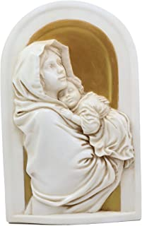Ebros Madonna and Child Wall Plaque Resin Nativity Mary and Baby Jesus Catholic Christian Art Hanging Decor Figurine Holy Family Collectible