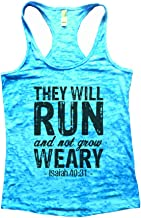 Funny Threadz Womens Burnout Tank Top They Will Run and Not Grow Weary Isaiah 40:31