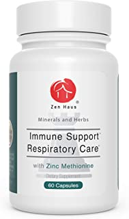 Zen Haus Immune System and Respiratory Support Supplement - with Zinc, Quercetin, Elderberry, Magnesium, Echinacea, Olive ...