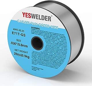 YESWELDER Flux Core Mig Wire, Mild Steel E71TGS.030-Diameter, 2-Pound Spool