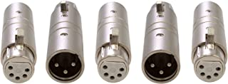 Pack of 5 - Enttec 70030 Adapter 3 Pin Male to 5 Pin Female Connector for DMX Interface Controller Open Pro Mk2 ODE DMXIS D-Split