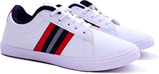 Axynys Casual White Fancy Sneakers Shoes for Men
