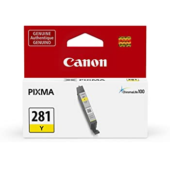 Canon CLI-281 Yellow Ink Tank Compatible to TR8520, TR7520, TS9120 Series,TS8120 Series, TS6120 Series, TS9521C, TS9520, TS8220 Series, TS6220 Series