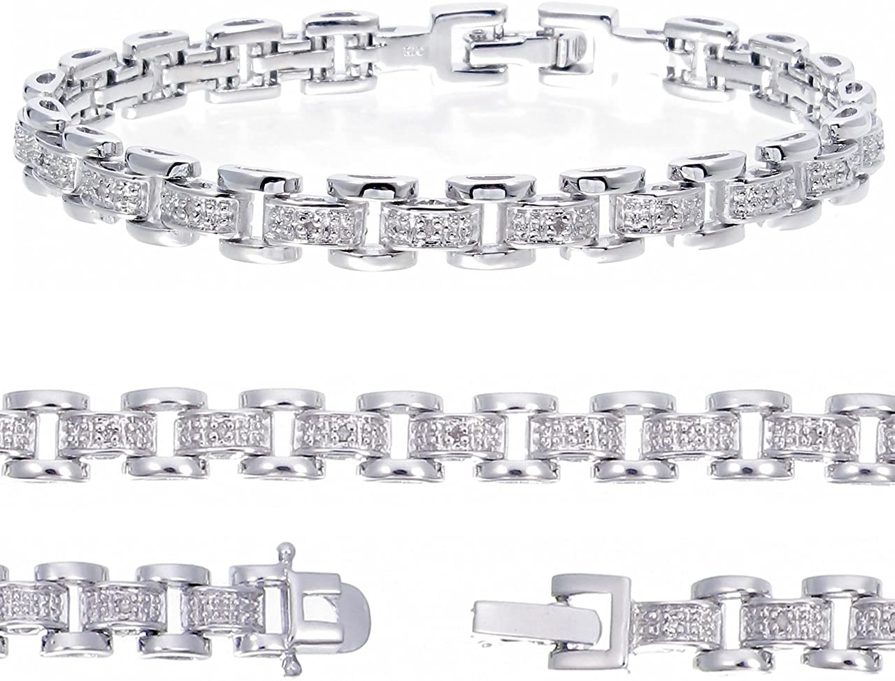 Vir Jewels 1 8 cttw Classic Diamond Bracelet in Rhodi with Brass Fixed SALENEW very popular! price for sale
