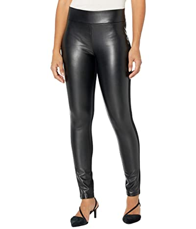 NYDJ Ponte/Faux Leather Leggings in Black Women