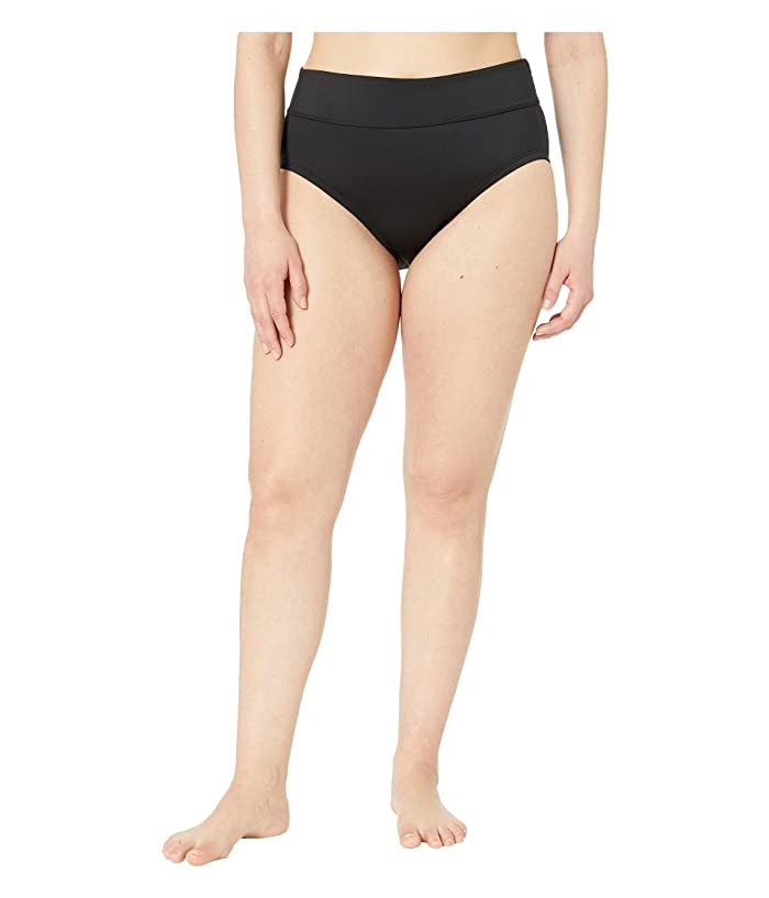 Nike Plus Size Solid Full Bottoms (Black) Women