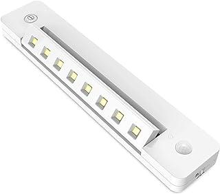 BIGLIGHT Counter Lights Battery Operated, Bright Closet Lights, Motion Sensor Under Cabinet/Shelf Lighting, Wireless Safe ...