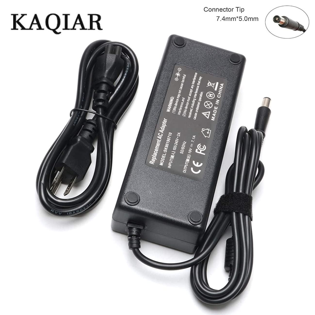 New 135W 19V 7.1A AC Adapter Laptop Charger Power Supply Replacement for HP 391174-001 384023 481420-001 DC7800 DC7900 Compaq Elite 8000 8200 8300 Notebook [7.4mm5.0mm]