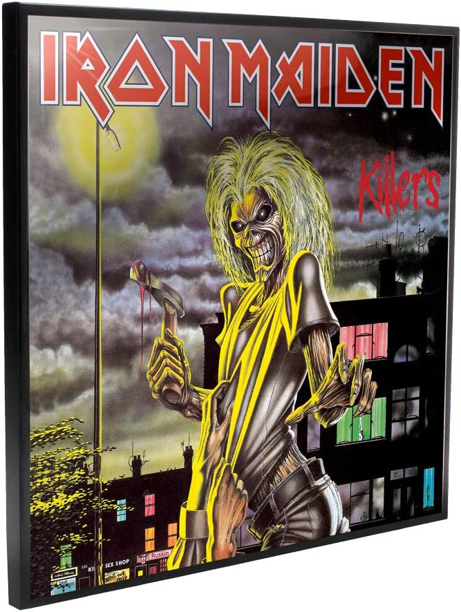 Inexpensive Nemesis Now Iron Maiden Killers Picture Crystal Blac 32cm unisex Clear