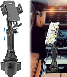 $23 » Car-Cup-Holder-Phone-Mount Adjustable Long Pole Automobile Cup Holder Smart Phone Cradle Car Mount for iPhone 11 Pro/XR/XS Max/X/8/7 Plus/6s/Samsung S10 /Note 9/S8 Plus/S7 Edge