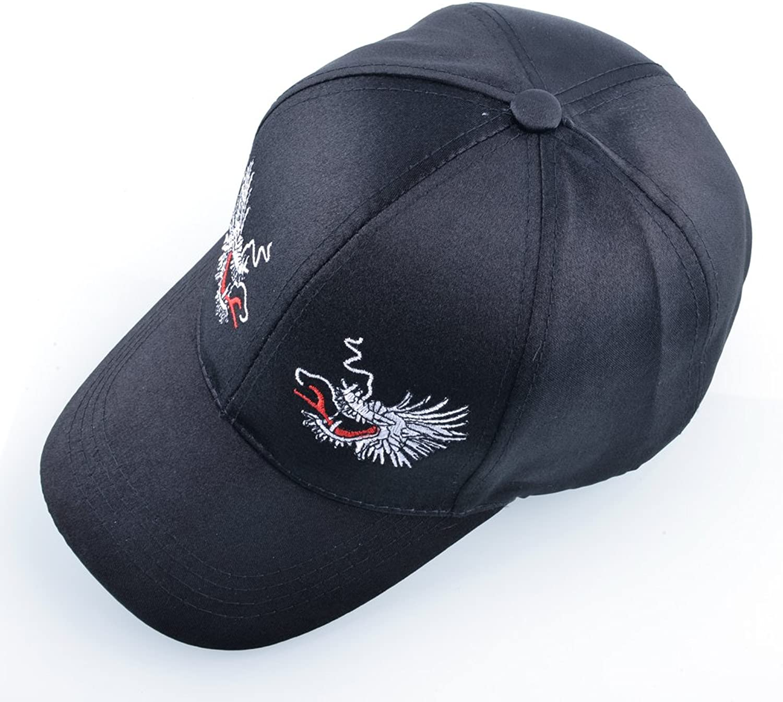 AAMOUSE Fashion Imitation Silk fabricbaseball Cap Women Sun Hats for Men Caps Woman Dragon caps Bone Casual Hip Hop Cap