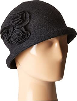 CTH8088 Soft Knit Cloche with Side Flower