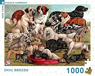 New York Puzzle Company - Vintage Images Dog Breeds - 1000 Piece Jigsaw Puzzle