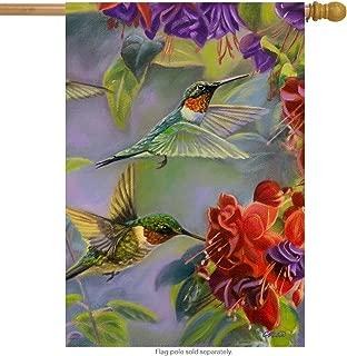 Briarwood Lane Hummingbird Spring House Flag Vibrant Flowers Flying Wildlife 28