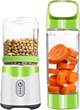 Personal Portable Blender Usb Juicer Rechargeable Travel Juice 350ML 500ML 6 Blades Baby Food Mixer Ice Smoothie,Green