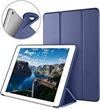 DTTO Apple iPad Air2 9.7 Inch Smart Cover, Ultra Slim Lightweight Smart Case Trifold Cover Stand with Flexible Soft TPU Back Cover for iPad Apple iPad Air2,9.7-inch [Auto Sleep/Wake], Navy Blue