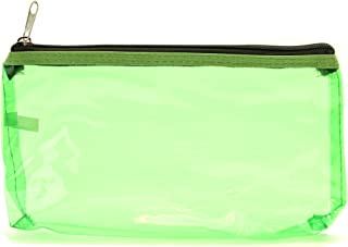 6e1af053b0 Carry on Clear Travel Toiletry Bag Cosmetic Bag Zippered Pouch (Lime Green)