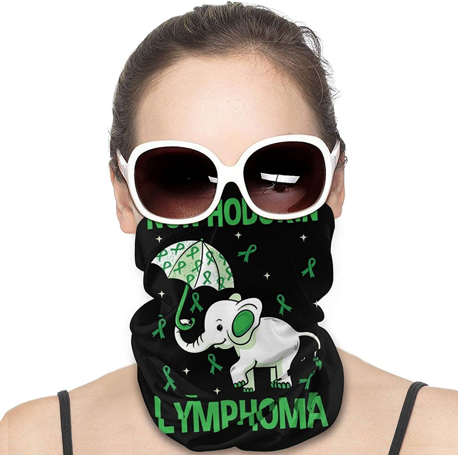 Non-Hodgkin Lymphoma Elephant Round Neck Gaiter Bandnas Face Cover Uv Protection Prevent bask in Ice Scarf Headbands Perfect for Motorcycle Cycling Running Festival Raves Outdoors