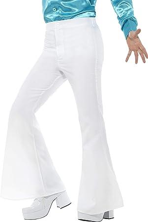 Smiffys Pantalon à Pattes D éléphant Homme Blanc Amazon Fr Jeux Et Jouets