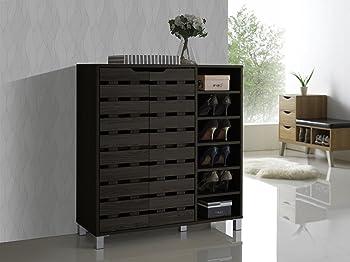 Baxton Studio Shirley 2 Door Shoe Cabinet
