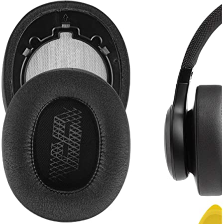 Geekria QuickFit Protein Leather Ear Pads Compatible with JBLs Live 500BT Headphones, Replacement Ear Cushion/Ear Cups/Ear Cover, Headset Earpads Repair Parts (Black)