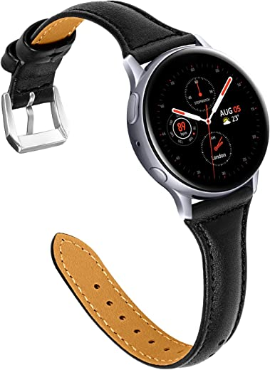 Joyozy Compatible with Samsung Galaxy Active 2 Watch Band 40mm 44mm, Genuine...