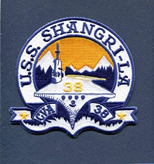 Embroidered Patch-Patches for Women Man- CVA-38 CV-38 CVS-38 USS Shangri-LA