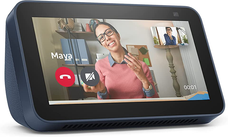 All-new Echo Show 5 | 2nd generation (2021 release), smart display with Alexa and 2 MP camera | Deep Sea Blue
