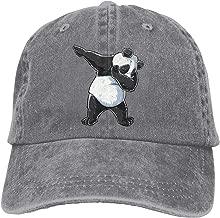 Unisex Dabbing Panda Print Dab Bear Dance Vintage Chic Denim Adjustable Trucker Hats Baseball Cap Black