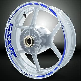 Reflective Blue Motorcycle Rim Wheel Decal Accessory Sticker For Suzuki GSX R