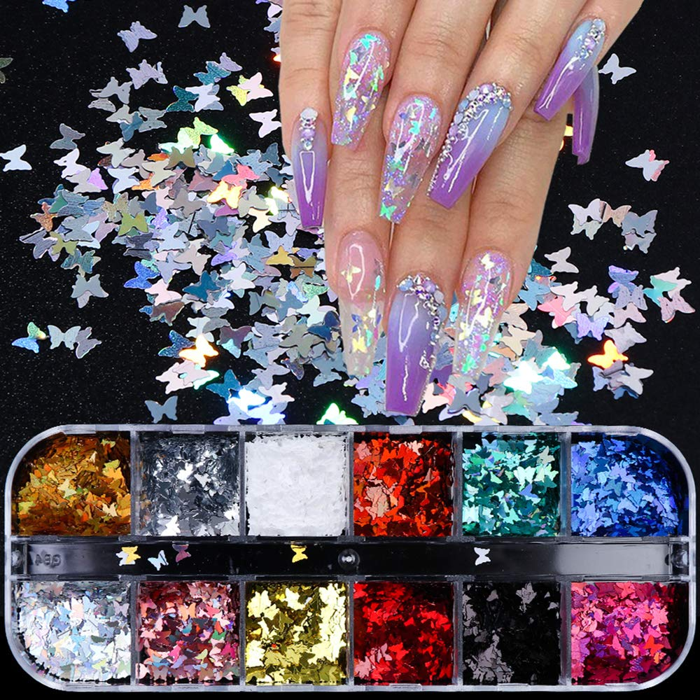 3D Butterfly Nail Art Stickers Glitter Decals Memphis Mall Atlanta Mall Seq