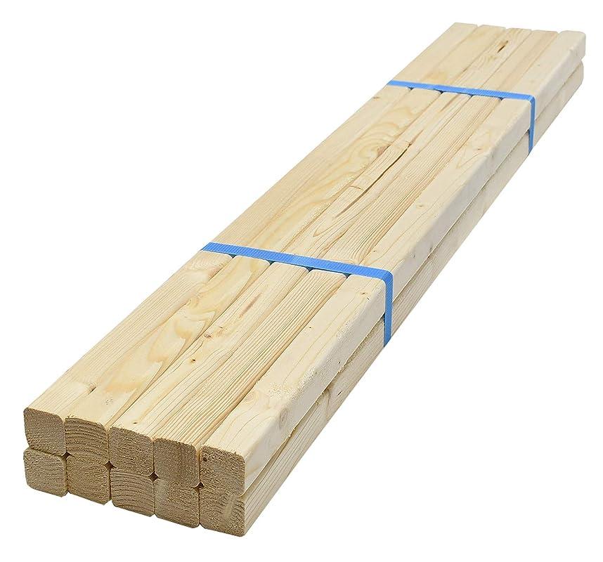 反動摩擦ハックスターワン ホワイトウッド材 約90×3×3cm 977113 10個セット