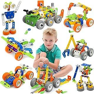 175 Piezas Bloques de Construcción,Juguetes para Niños de 5,6,7,8 Años y Mayores, Juego construccion,Aprendizaje de Juegos...