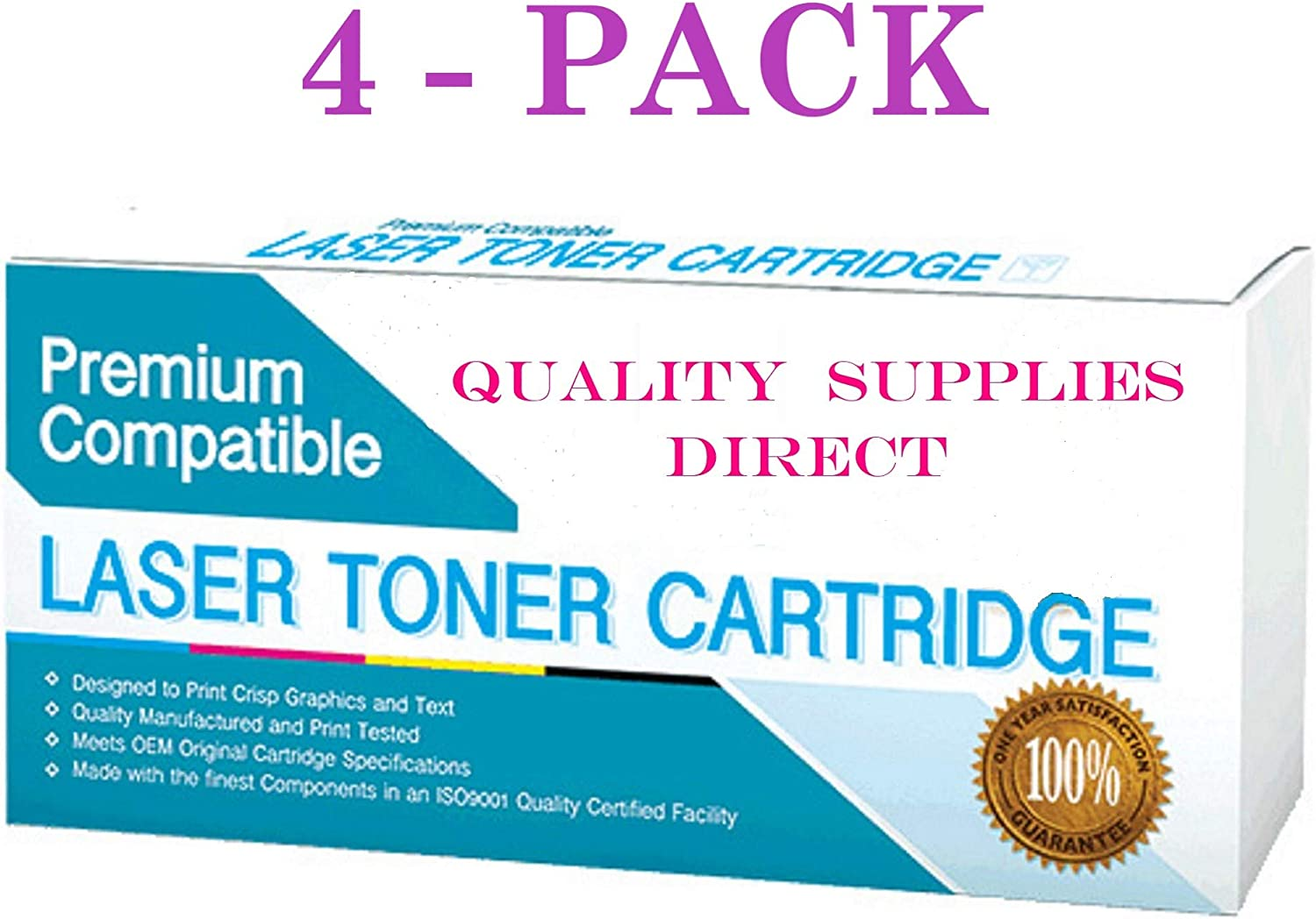QSD Compatible Toner Replacement for Canon FX3, 1557A002BA, See 2nd Bullet Point for Compatible Machines (Black)(Free 1 to 2 Day DELIVERY)(4-Pack)