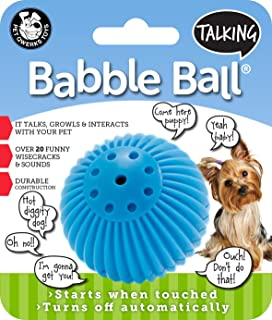 Pet Qwerks Talking Babble Ball Interactive Pet Toy – Wisecracks & Makes Funny..