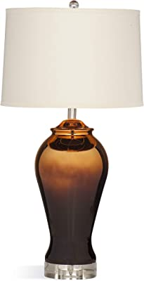 Bassett Mirror L3212TEC Ceramic Sienna Table Lamp, Bronze Gold