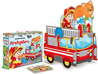 """Sassi """"Assemble and Build Firefighters"""" 3D Puzzle;Assemble and Build;Assemble and Build"""