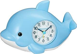 目覚まし時計 起きてイルカ? ブルー リズム時計 4SE553SR04