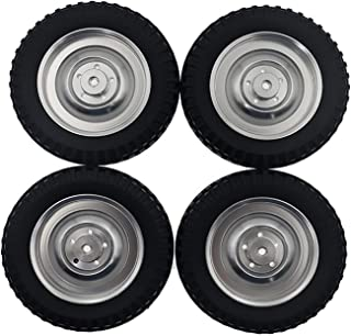 HONG YI-HAT 4PCS Wheels Hub with Tire Skin suitable for WPL C14 C14K C24 C24K C34 C34K C34KM C44KM RC Car Accessories スペアパ...