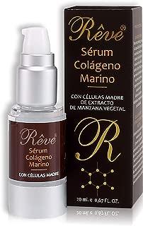 REVE Sérum Colágeno Marino - Sérum Facial con Células Madre - Hombre y Mujer, Día y Noche - Cosmética natural sin parabenes para todo tipo de pieles - 20 ml