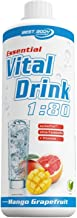 Best Body Nutrition - Essential Vital Drink, 1:80, Mango Grapefruit, 1:80, 1000 ml Flasche